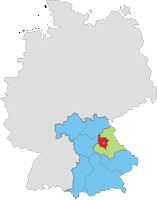Deutschlandkarte - Landkreis Amberg-Sulzbach