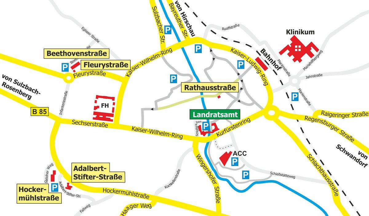 Stadtplan | Landratsamt & Außenstellen